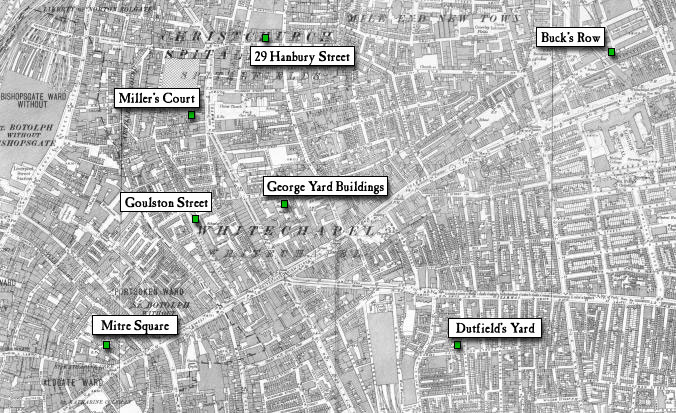 Jack The Ripper Map Casebook: Jack the Ripper   Maps of Whitechapel, 1888 1894 Jack The Ripper Map